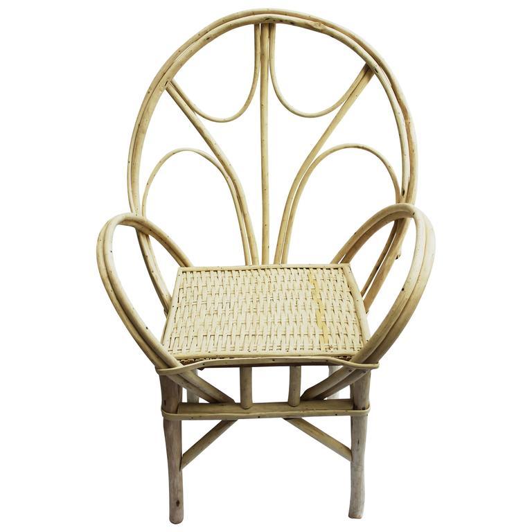 Handmade Moroccan Natural Wicker Chair At 1stdibs