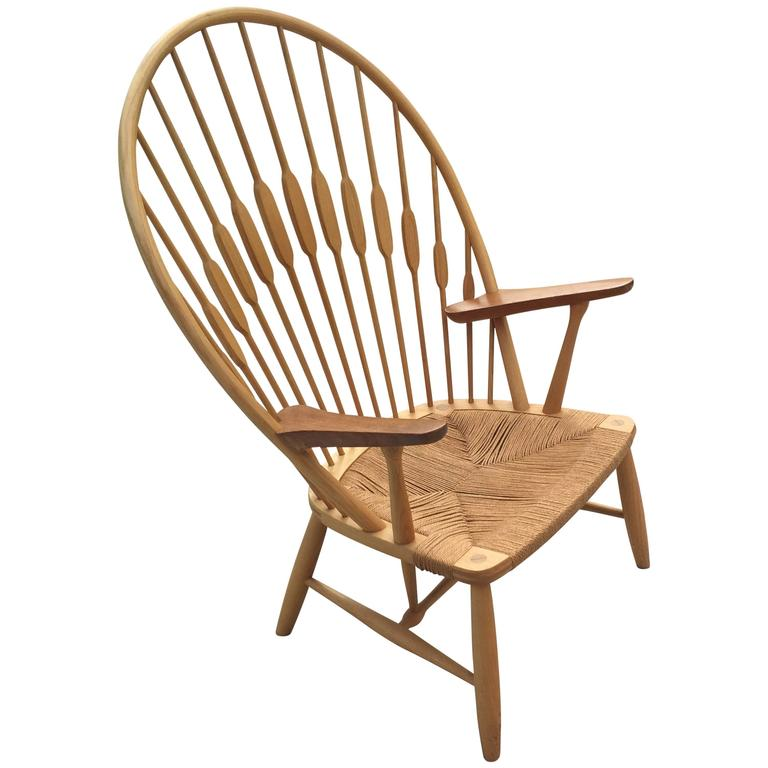 Hans J Wegner Peacock Chair For Johannes Hansen At 1stdibs