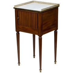 Louis XVI Mahogany Bedside Table