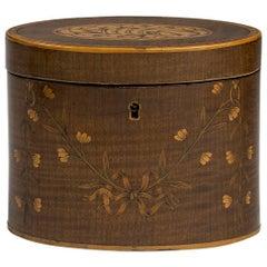George III Harewood, Boxwood and Rosewood Tea Caddy