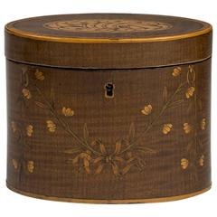George III Harewood, Boxwood and Rosewood Tea Caddy