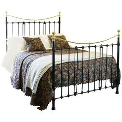Brass and Iron Bed in Black