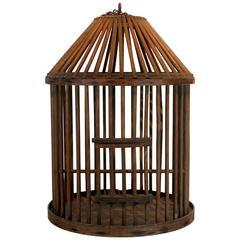 Oversize Mahogany Birdcage, Late 19th Century