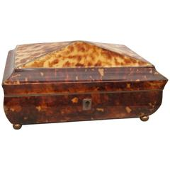 Antique English Tortoiseshell Box