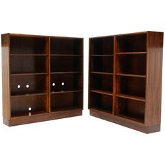 Pair of Danish Brazilian Rosewood Bookcasesby Carlo Jensen for Domus Danica