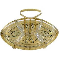 Jugendstil Centerpiece with Original Glass and Handle