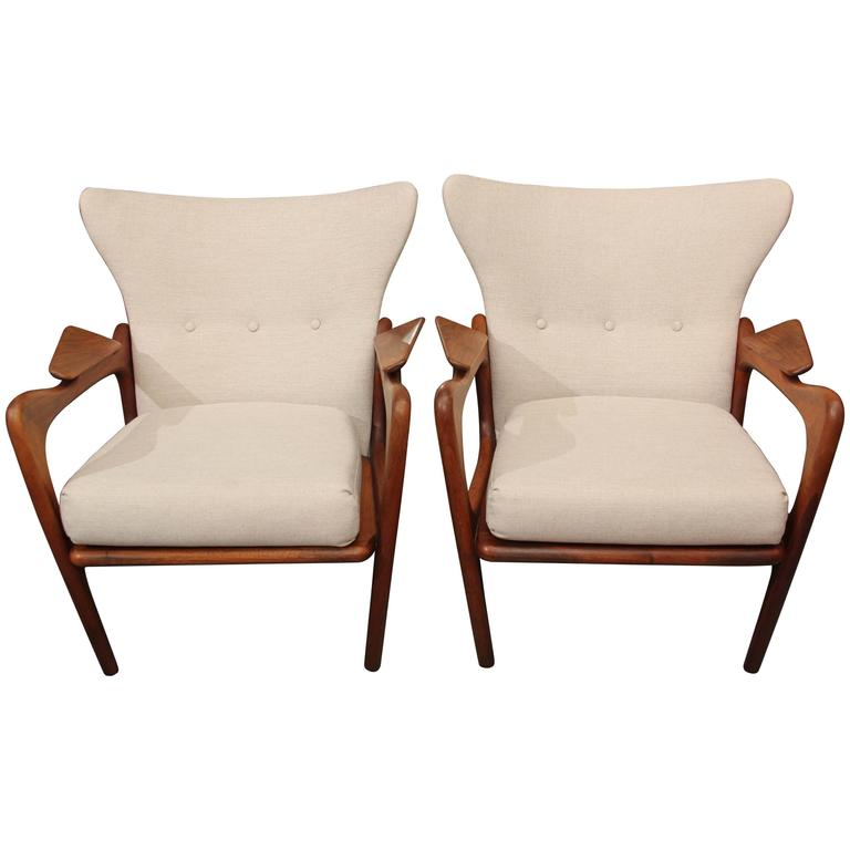 Pair of Adrian Pearsall Chairs 2