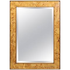 Mid-Century Italian Burl Mirror