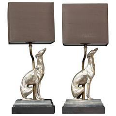 Pair of Dog Lamps