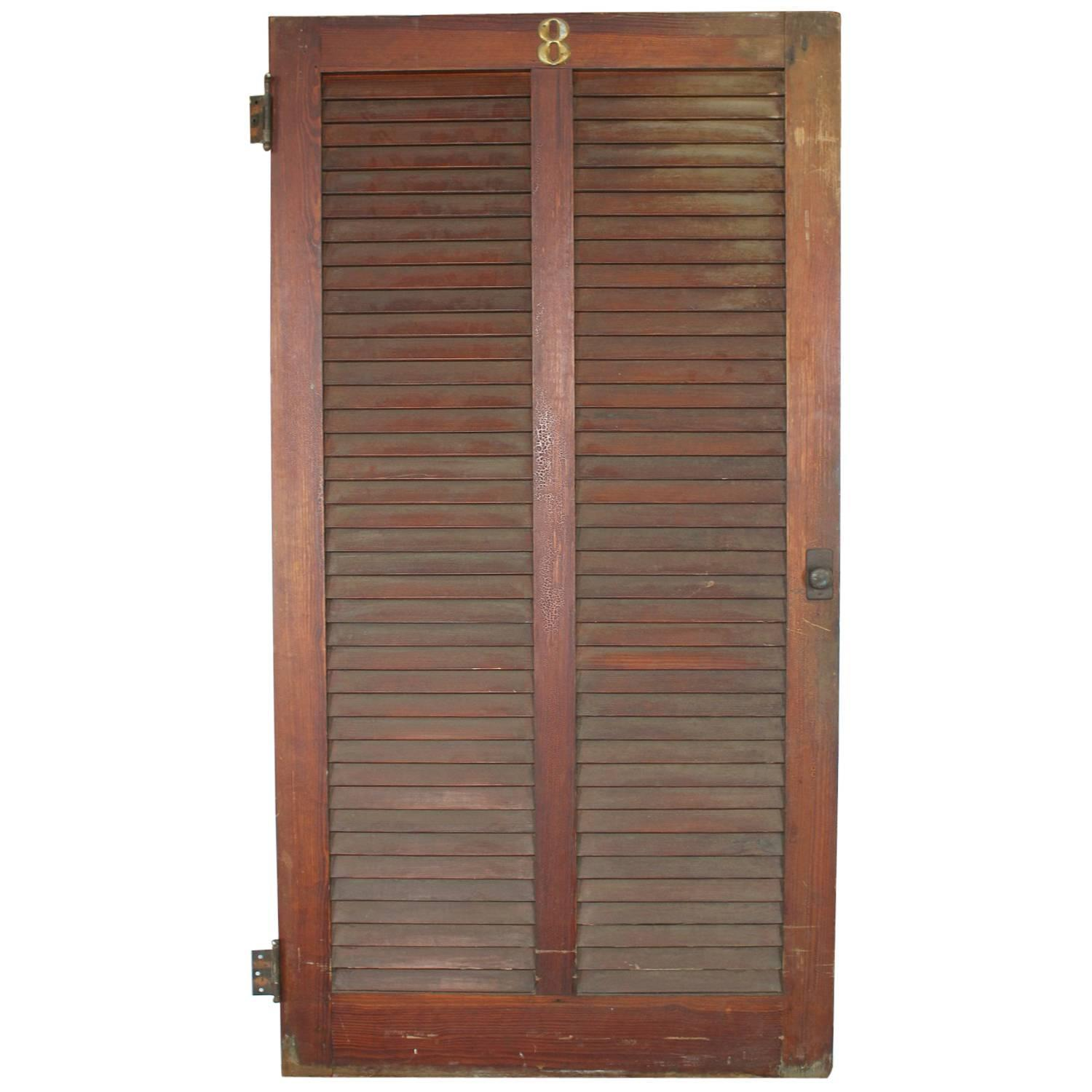 Antique american sport club locker wood doors for sale at for Wood lockers with doors