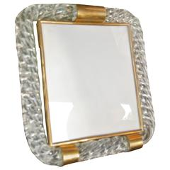 Venini Twisted Rope Glass Picture Frame