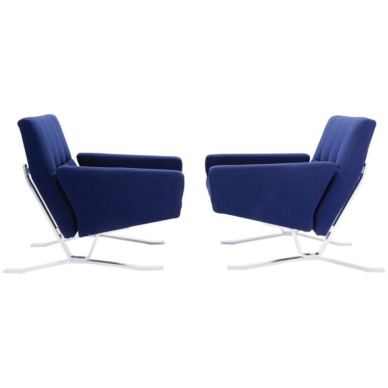 Pair of European Club Chairs for JG Furniture Company after Poul Kjaerholm 1
