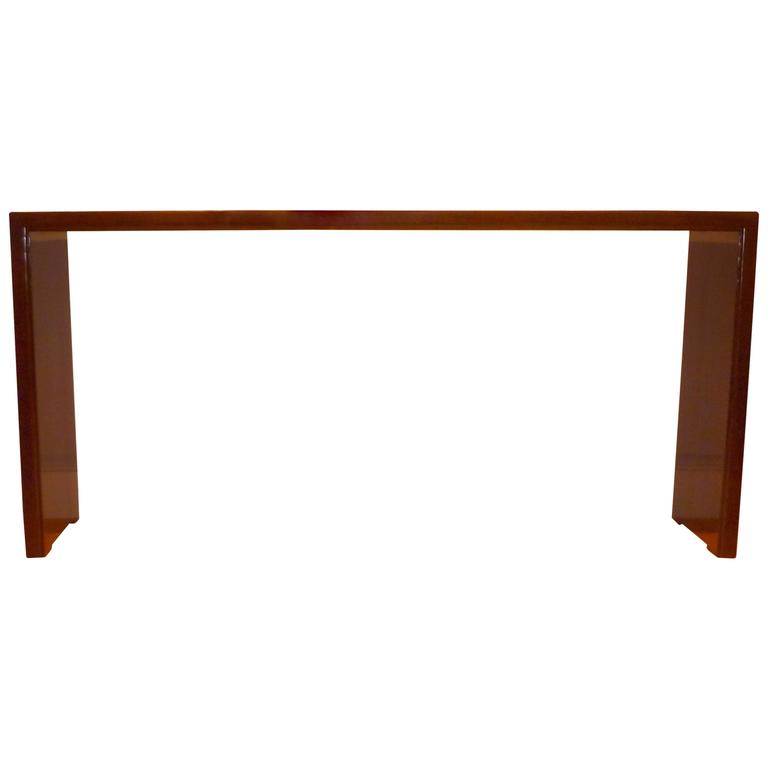 Fine and Elegant Ju Mu Wood Console Table For Sale