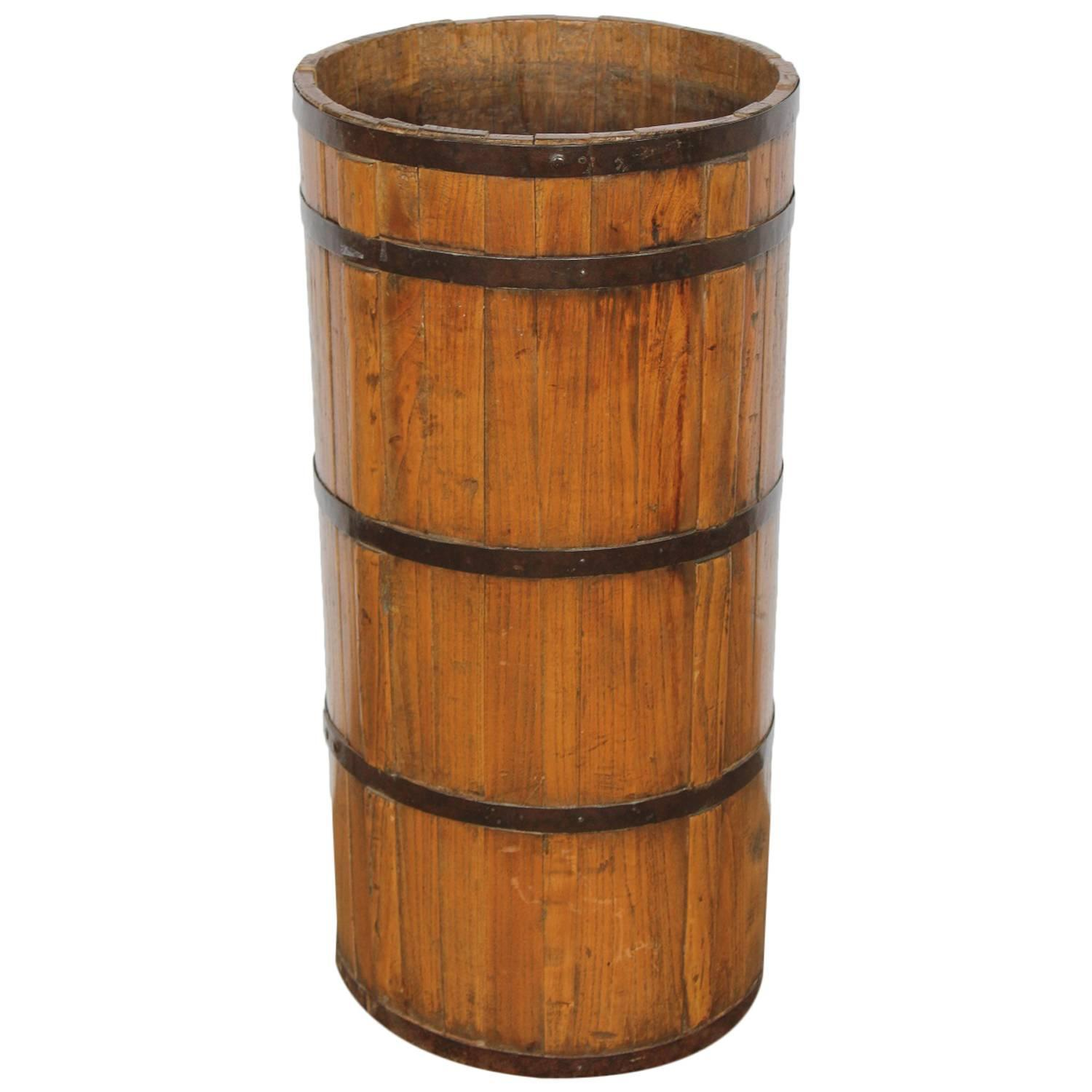 Antique wood and iron umbrella stand at stdibs