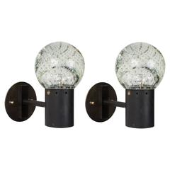 Pair of Seguso Glass Sconces by Gino Sarfatti for Arteluce