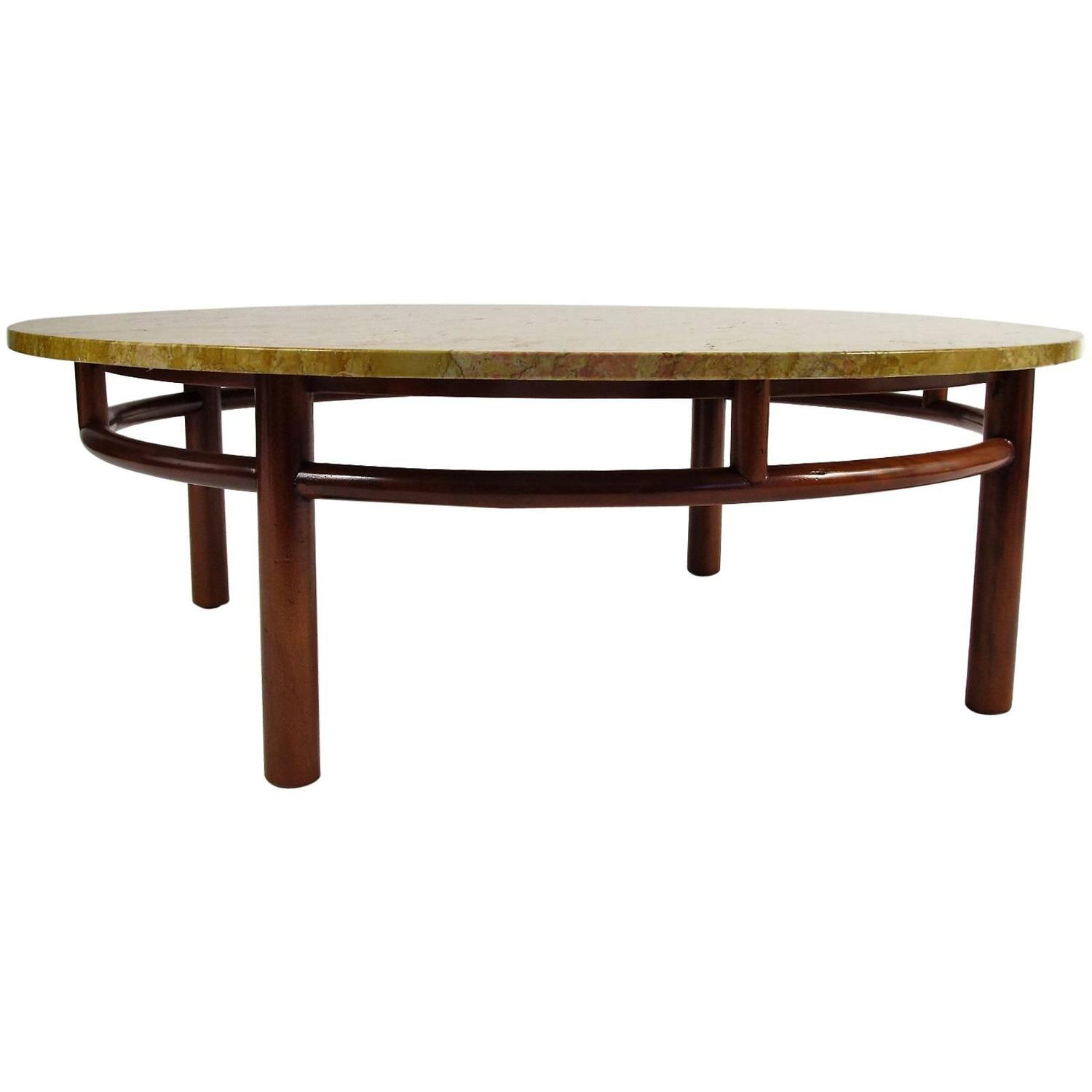 T H Robsjohn Gibbings Marble Round Coffee Table For Widdicomb At 1stdibs