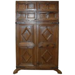 17th Century Spanish Chestnut Cupboard