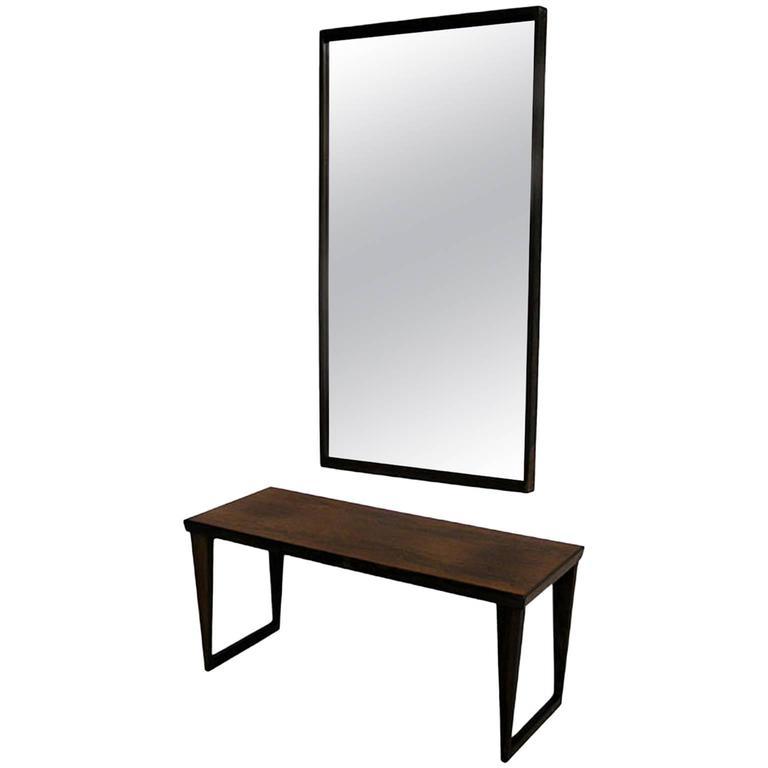 Rosewood Bench with Mirror by Kai Kristiansen, circa 1960s