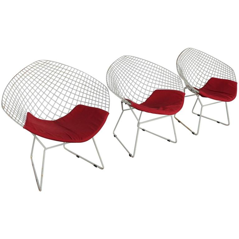Harry Bertoia Diamond Chair for Knoll
