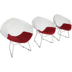 Harry Bertoia Diamond Chair For Knoll