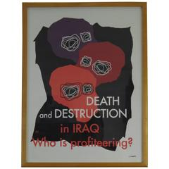Powerful Anti Iraq War Poster by Gregor Goethals