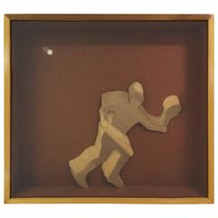 Tennis Player Multi-Dimensional Sculpture by Greg Copeland