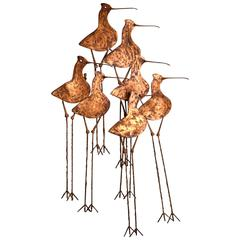 "Curtis Jere Brass ""Sandpiper"" Wall Sculpture"