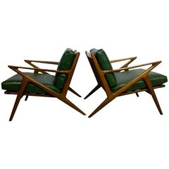 Original Pair of Poul Jensen Z Chairs for Selig
