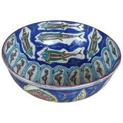 19th Century Qajar Pottery Bowl