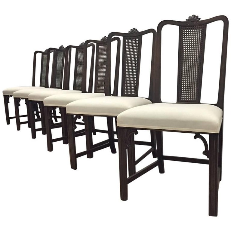 6 Dining chairs by Axel Einar Hjorth for NK, circa 1930s For Sale