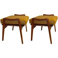 Pair of Danish Ottomans by Arne Wahl Iversen