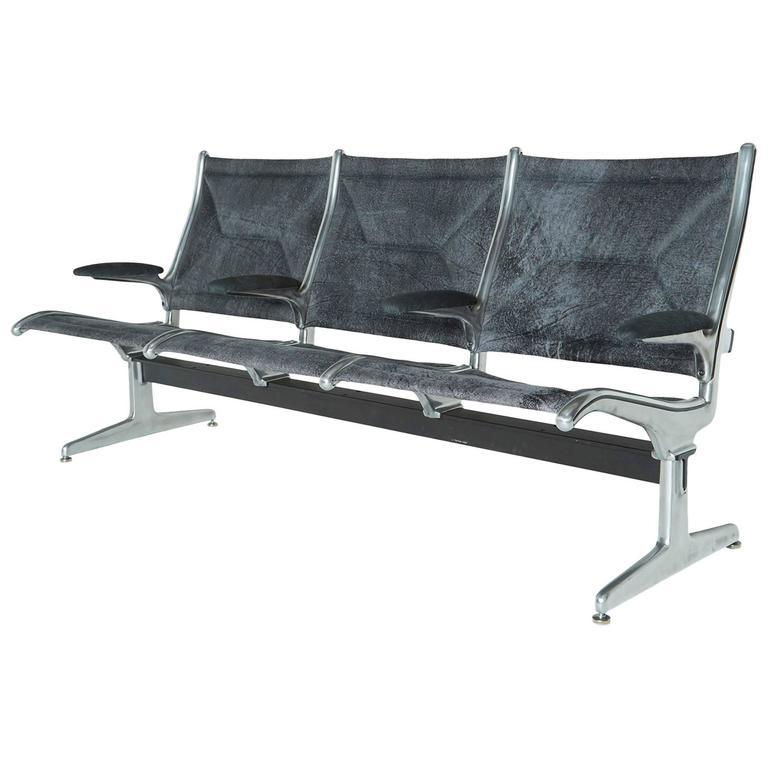 Custom Edelman Three-Seat Tandem Sling Bench by Eames for Herman Miller