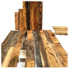 Original French Antique Wood Oak Flooring All Mixed, 17th-19th Century, France
