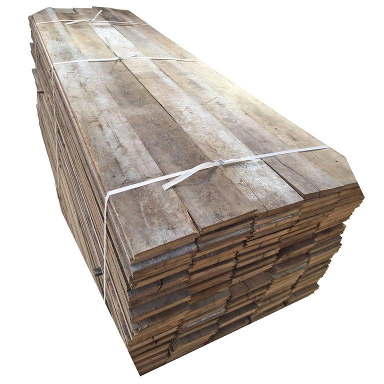 Original French Antique Wood Oak Flooring, 17th-19th Century For Sale