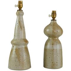 Franco Agnese Pair of Rare Ceramic Table Lamps, France, 1960s