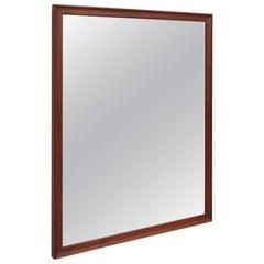 Kipp Stewart Wall Mirror in Solid Walnut by Drexel, USA, 1950s