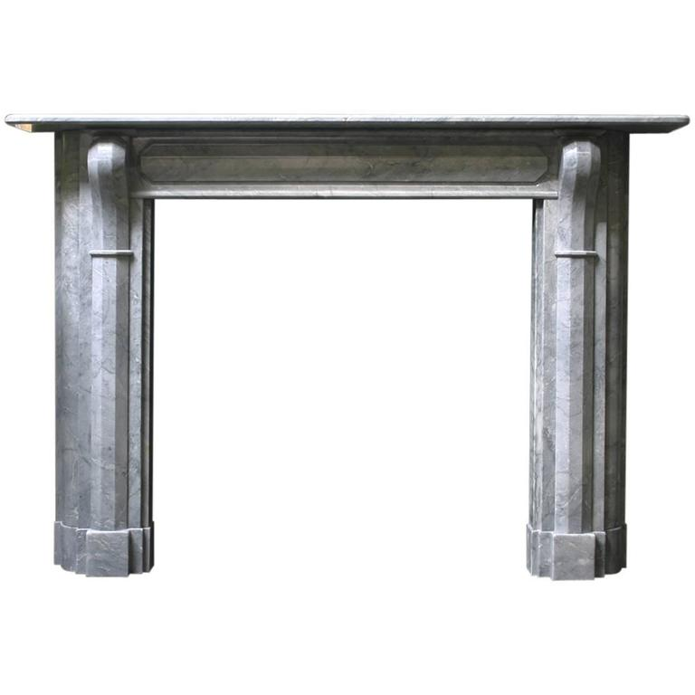 19th Century Regency Grey Marble Fireplace Surround