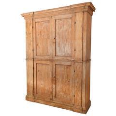 18th Century Italian Pine Original Painted Cabinet