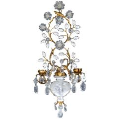 Rock Crystal French Gilt Sconces
