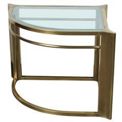 Brass Corner Table by Mastercraft