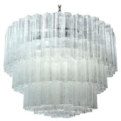 Large Five-Tier Tronchi Tube Chandelier by Camer