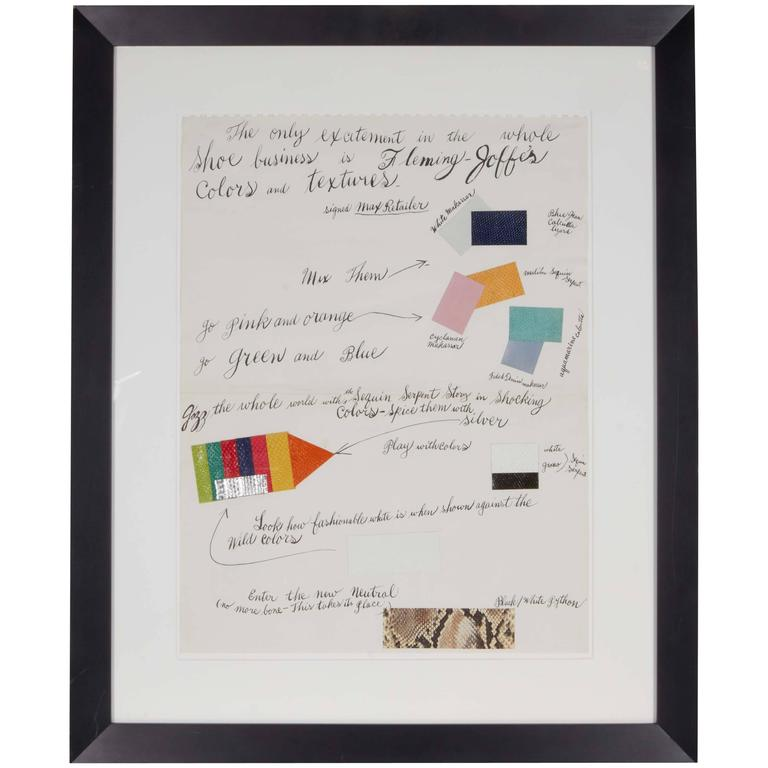 Andy Warhol, Offset Lithograph with Collage of Colored Leather Samples, 1960