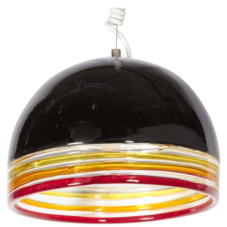 Italian 1970s Pendant Light by Leucos