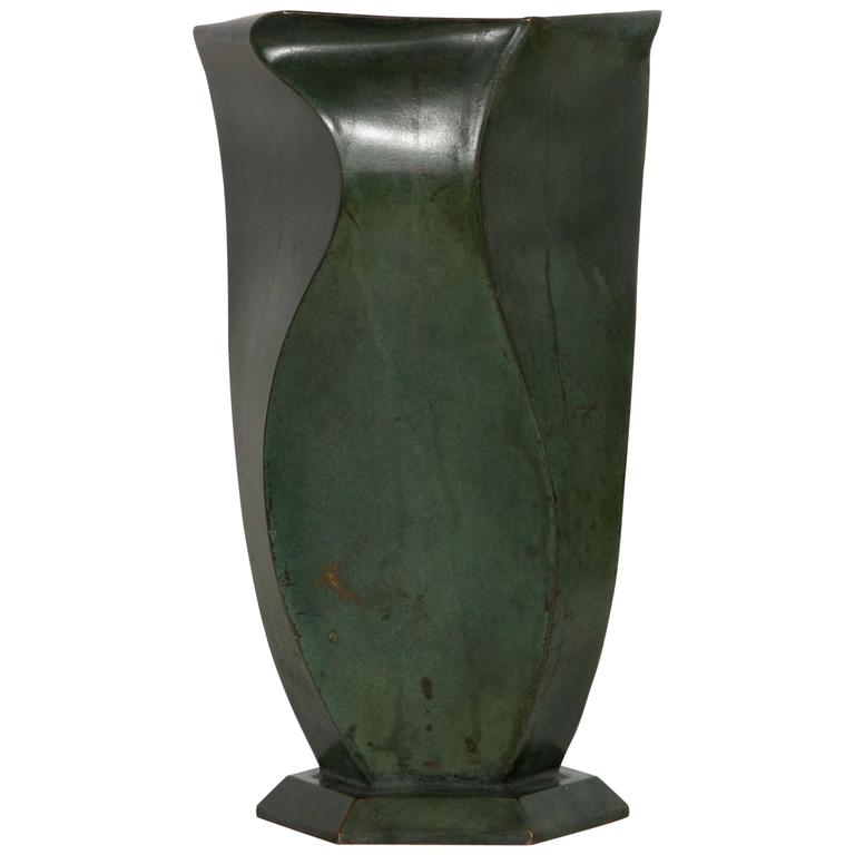 Bronze Vase by Jean Dunand, 1920s For Sale