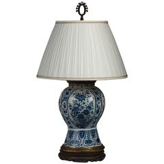 Delft Vase Mounted as a Lamp