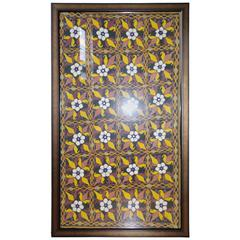 4 Large Antique Textiles from India, Framed as Wall Art, 19th Century