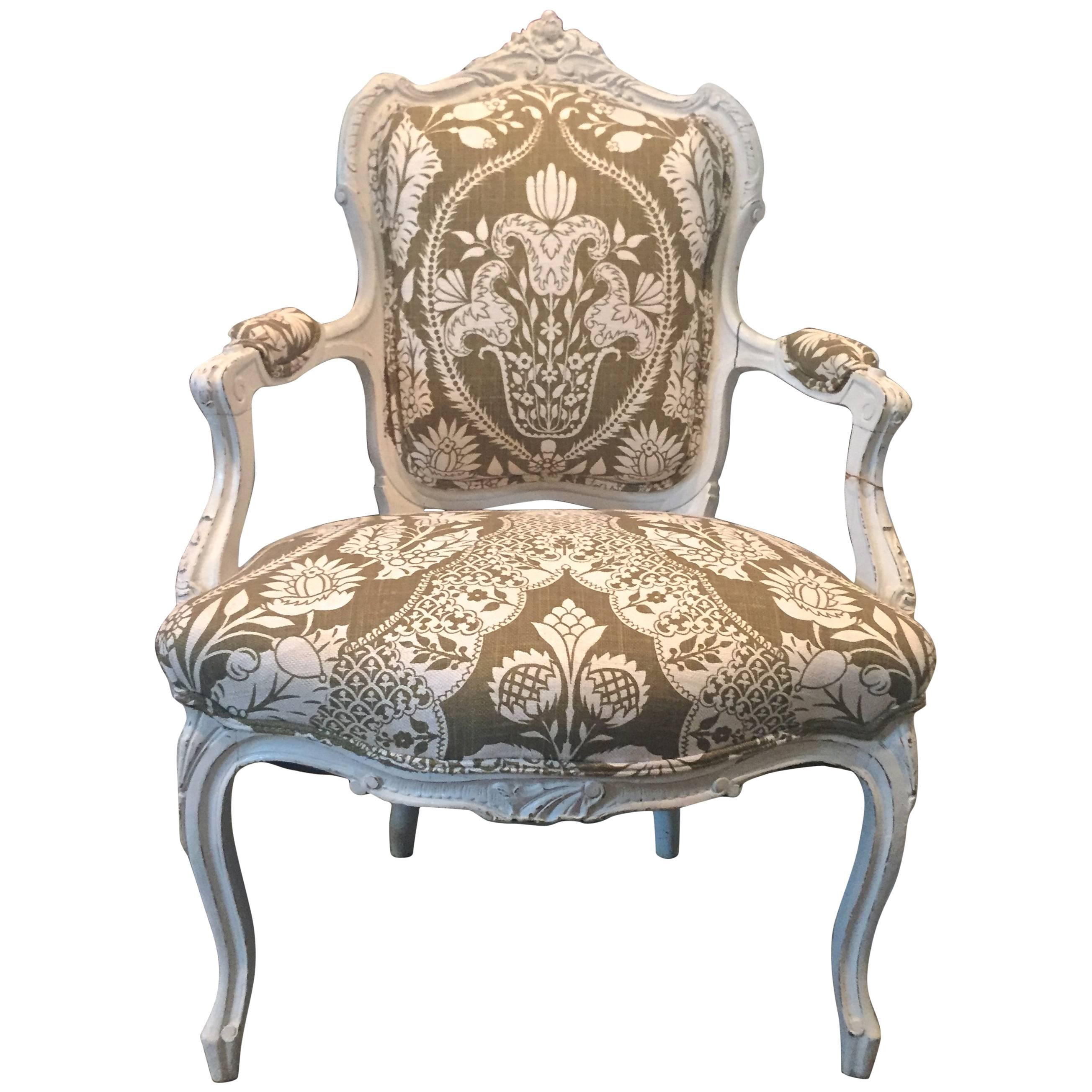 19th Century Carved French Chair