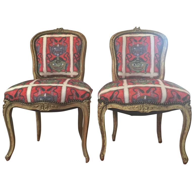 Louis XV Upholstered Dining Side Chairs 1