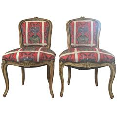 Louis XV Upholstered Dining Side Chairs