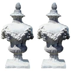 Pair of 18th Century Lead Urns/Finials